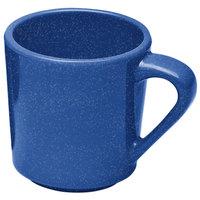 Elite Global Solutions DC14-BC Base Camp Blue Speckle 14 oz. Melamine Mug