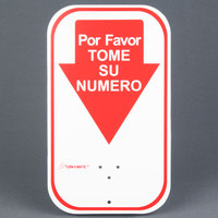 Turn-O-Matic 106000120 Por Favor Tome Su Numero Sign