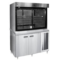 Delfield F15MC72D 72 inch Refrigerated Display Case with Storage Base and Mirrored Back - 44.8 Cu. Ft.