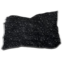 Elite Global Solutions QS1611 Rocky Mountain High Black Granite 16 inch x 11 inch Irregular Shape Display Stone Platter