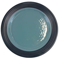 Elite Global Solutions D1098GM Durango 11 inch Abyss & Lapis Round Two-Tone Melamine Plate