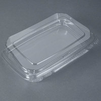 10 inch x 7 inch x 2 inch Tamper-Evident Recycled PET Angled Clear Take Out Container - 110 / Case