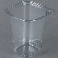 32 oz. Square Recycled PET Deli Container - 400 / Case
