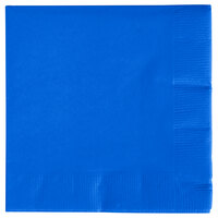 Creative Converting 573147B Cobalt 3-Ply Beverage Napkin - 500 / Case
