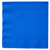 Creative Converting 593147B Cobalt Blue 3-Ply Paper Dinner Napkins - 250/Case