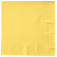 Creative Converting 57102B Mimosa Yellow 3-Ply Beverage Napkin - 500 / Case