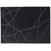 Snap Drape PMCHIDKBL Cityscape 12 inch x 16 inch Chico Dark Navy PVC Placemat - 12/Pack