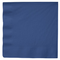 Creative Converting 591137B Navy Blue 3-Ply Paper Dinner Napkin - 250/Case