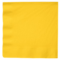 Creative Converting 591021B School Bus Yellow 3-Ply Paper Dinner Napkin - 250/Case