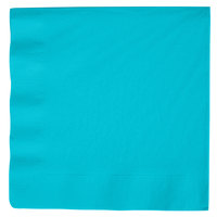 Creative Converting 591039B Bermuda Blue 3-Ply Paper Dinner Napkins - 250/Case