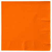Creative Converting 57191B Sunkissed Orange 3-Ply Beverage Napkin - 500/Case