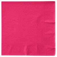 Creative Converting 57177B Hot Magenta Pink 3-Ply Beverage Napkin - 500 / Case