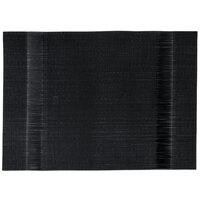 Snap Drape PMMANBLK Cityscape 13 inch x 18 inch Manhattan Black PVC Placemat - 12 / Pack