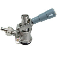 Micro Matic 7485SS D System Beer Keg Coupler with Gray Lever Handle and Type 304 Stainless Steel Probe