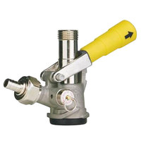 Micro Matic 7485BB-G D System Beer Keg Coupler with Yellow Lever Handle