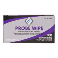 WipesPlus Probe Wipe Sachet, Thermometer Sanitizing Wipes - 100 / Pack