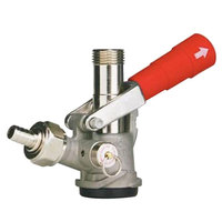 Micro Matic 7485BB-R D System Beer Keg Coupler with Red Lever Handle