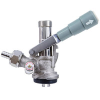 Micro Matic 7486SS S System Beer Keg Coupler with Gray Handle and Type 304 Stainless Steel Probe