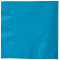 Creative Converting 583131B Turquoise 3-Ply 1/4 Fold Buffet Napkin - 500 / Case