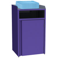 Lakeside 4410 Stainless Steel Refuse Station with Front Access and Purple Laminate Finish - 26 1/2 inch x 23 1/4 inch x 45 1/2 inch