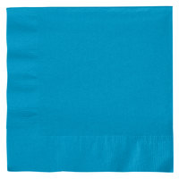Creative Converting 663131B Turquoise 2-Ply 1/4 Fold Luncheon Napkin - 600 / Case