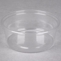 Choice 8 oz. Clear Plastic Round Deli Container - 50/Pack