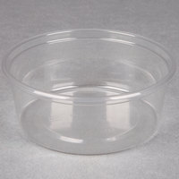 Choice 8 oz. Clear Plastic Round Deli Container - 50 / Pack