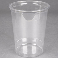 Choice 32 oz. Clear Plastic Round Deli Container - 500 / Case