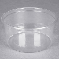 Choice 12 oz. Clear Plastic Round Deli Container - 50 / Pack
