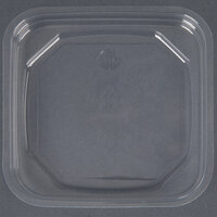 D&W Fine Pack SDIFPLA FreshServe Square PLA Biodegradable / Compostable Plastic Clear Deli Container Lid - 1000 / Case