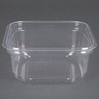 D&W Fine Pack SD12N FreshServe 12 oz. Square PLA Biodegradable / Compostable Plastic Clear Deli Container - 500 / Case