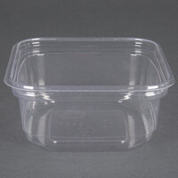 D&W Fine Pack SD12N FreshServe 12 oz. Square PLA Biodegradable / Compostable Plastic Clear Deli Container - 500/Case