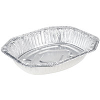 Durable Packaging 40010 18 inch x 14 inch x 3 inch Oval Foil Roast Pan - 5 / Pack