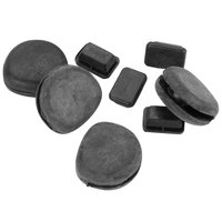 Vollrath 25837-1 8-Piece Replacement Rubber Bumper Set for Roll Top Chafers
