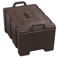 Carlisle Cateraide PC180N01 8 inch Deep Brown Top Loading Insulated Food Pan Carrier
