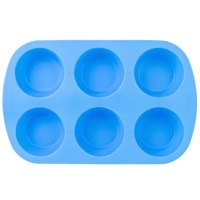 Wilton 2105-4802 Easy-Flex Silicone 6-Cup Muffin Mold