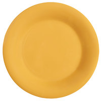 GET WP-7-TY Diamond Mardi Gras 7 1/2 inch Tropical Yellow Wide Rim Round Melamine Plate - 48 / Case