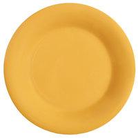 GET WP-7-TY Diamond Mardi Gras 7 1/2 inch Tropical Yellow Wide Rim Round Melamine Plate - 48 / Case