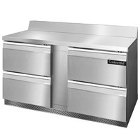 Continental Refrigerator SWF60-BS-FB-D 60 inch Four Drawer Front Breathing Worktop Freezer with Backsplash - 17 cu. ft.