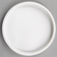 Choice Microwavable White Plastic Round Deli Lid - 500/Case