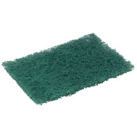 3M 86CC Scotch-Brite 9 inch x 6 inch Heavy-Duty Green Scouring Pad - 10 / Pack