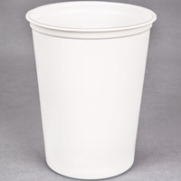 Choice 32 oz. White Microwavable Plastic Round Deli Container - 50/Pack