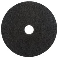 3M 7200 17 inch Black Stripping Pad - 5/Case