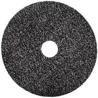 3M 7300 10 inch Black High Productivity Stripping Pad - 5/Case