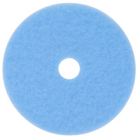 3M 3050 Hi-Performance 20 inch Sky Blue Burnishing Floor Pad - 5/Case