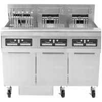 Frymaster FPRE317TC-SD High Efficiency Electric Floor Fryer with (3) 50 lb. Full Frypots and CM3.5 Controls - 208V, 1 Phase, 17kW
