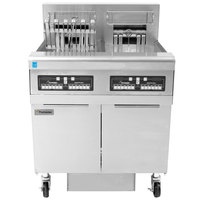 Frymaster FPRE222TC-SD High Efficiency Electric Floor Fryer with (2) 50 lb. Full Frypots and CM3.5 Controls - 240V, 1 Phase, 22kW