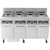 Frymaster FPRE422TC-SD High Efficiency Electric Floor Fryer with (4) 50 lb. Full Frypots and CM3.5 Controls - 22kW
