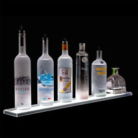 Beverage-Air LS6-72L 72 inch Liquor Shelf with Built-In LED Lighting - 4 1/2 inch Deep