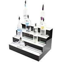 Beverage-Air LBD3-72L 72 inch Three-Tiered Liquor Display with Built-In LED Lighting - 13 1/2 inch Deep